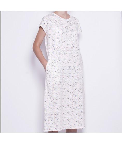 Vestido Blanco Motas 2002369 Pan Producto Básico