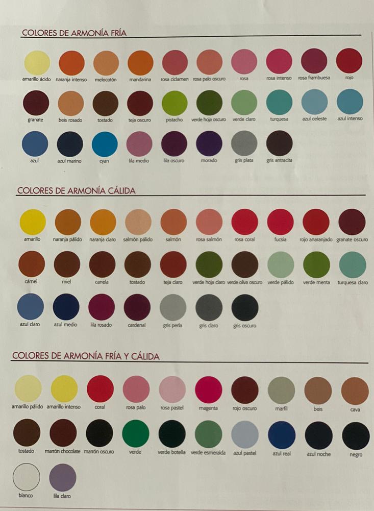 paleta análisis del color